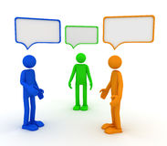 Speech bubble. This is a 3D rendered picture Royalty Free Stock Images