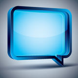 Speech bubble 3d modern style. Speech bubble 3d modern style, vector design element. Contain transparent shadow ready to put over any background Royalty Free Stock Photography
