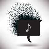 Speech Bubble Abuzz with Musical Notes Royalty Free Stock Images