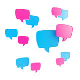 Speech bubble as communication illustration Royalty Free Stock Image