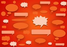 Speech bubble background wallpaper design. For text and image layout royalty free illustration