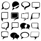 Speech bubble balloons set Stock Images