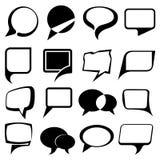 Speech bubble balloons set Stock Images