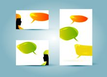 Speech bubble banner templates. Illustration, eps 10 Royalty Free Stock Photography