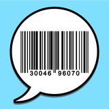 Speech bubble with bar code Stock Photography