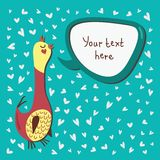 Speech bubble and bird Royalty Free Stock Photos