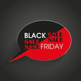 Speech Bubble Black Friday Stripes Royalty Free Stock Images