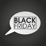 Speech Bubble Black Friday Royalty Free Stock Images