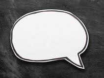 Speech Bubble. Blank Speech Bubble on blackboard Background Royalty Free Stock Images