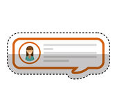speech bubble blog icon Royalty Free Stock Image