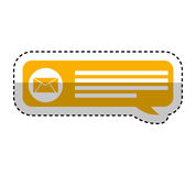 Speech bubble blog icon Royalty Free Stock Photography