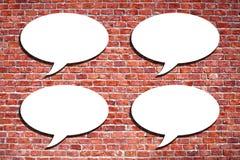 Speech Bubble on the brick wall. Blank speech bubble on the brick wall Stock Photos