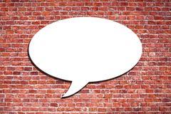 Speech Bubble on the brick wall. Blank speech bubble on the brick wall Royalty Free Stock Image