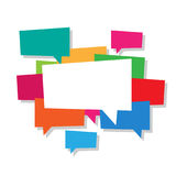 Speech Bubble Bundle Colors Royalty Free Stock Image