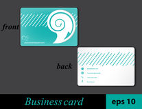Speech bubble business card Royalty Free Stock Photo