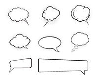 Speech bubble. Bubble speech cartoon -  web design element Royalty Free Stock Image