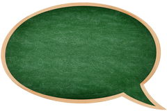 Speech bubble chalkboard / blackboard stock images