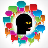 Speech bubble with chart Royalty Free Stock Images