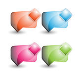 Speech bubble or chat boxes Royalty Free Stock Photography