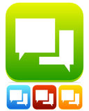Speech Bubble Chat Icons Stock Photos