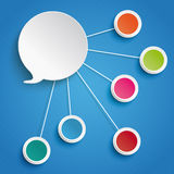 Speech Bubble 5 Circles Blue Background Royalty Free Stock Images