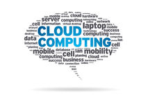 Speech Bubble - Cloud Computing Stock Photography