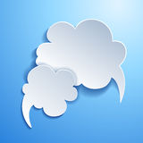 Speech bubble. Cloud Royalty Free Stock Images