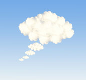 Speech bubble clouds Royalty Free Stock Image