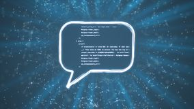 Speech Bubble Code stock video footage