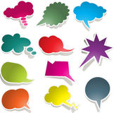 Speech bubble collection Royalty Free Stock Photos