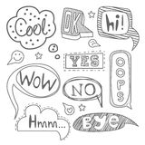 Speech Bubble Collection. Black and White Vector Stock Photography