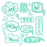Speech Bubble Collection. Black and White Vector Royalty Free Stock Photography