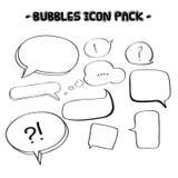 Speech bubble collection Stock Photos