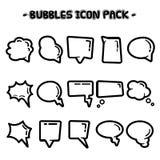 Speech bubble collection stock illustration