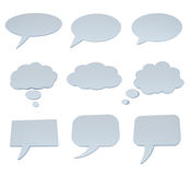 Speech bubble collection on white Stock Images