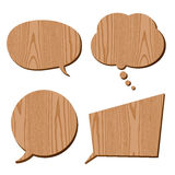 Speech bubble collection wood grain Stock Photos