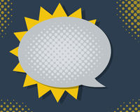 Speech Bubble with Color Halftone Stock Photo