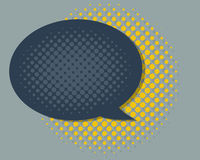 Speech Bubble with Color halftone Royalty Free Stock Photography