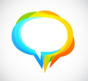 Speech bubble - colorful abstract background Stock Images