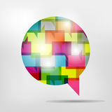 Speech bubble. Royalty Free Stock Photo