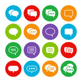 Speech bubble colorful set Royalty Free Stock Photo