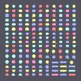 Speech bubble colorful vector icons Stock Photos