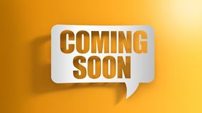 Speech bubble with Coming soon. Image of Speech bubble with Coming soon stock illustration