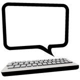 Speech bubble communication computer monitor Royalty Free Stock Image
