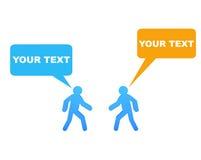 Speech bubble communication Stock Images