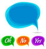 Speech bubble. communication royalty free illustration