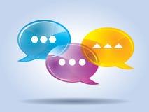 Speech bubble for comunication Royalty Free Stock Photo
