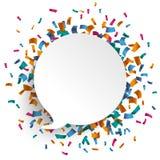 Speech Bubble Confetti Stock Photo