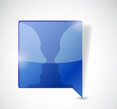 Speech bubble conversation illustration Royalty Free Stock Image
