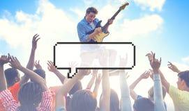 Speech Bubble Copy Space Communication Announcement Pixel Concep Royalty Free Stock Images